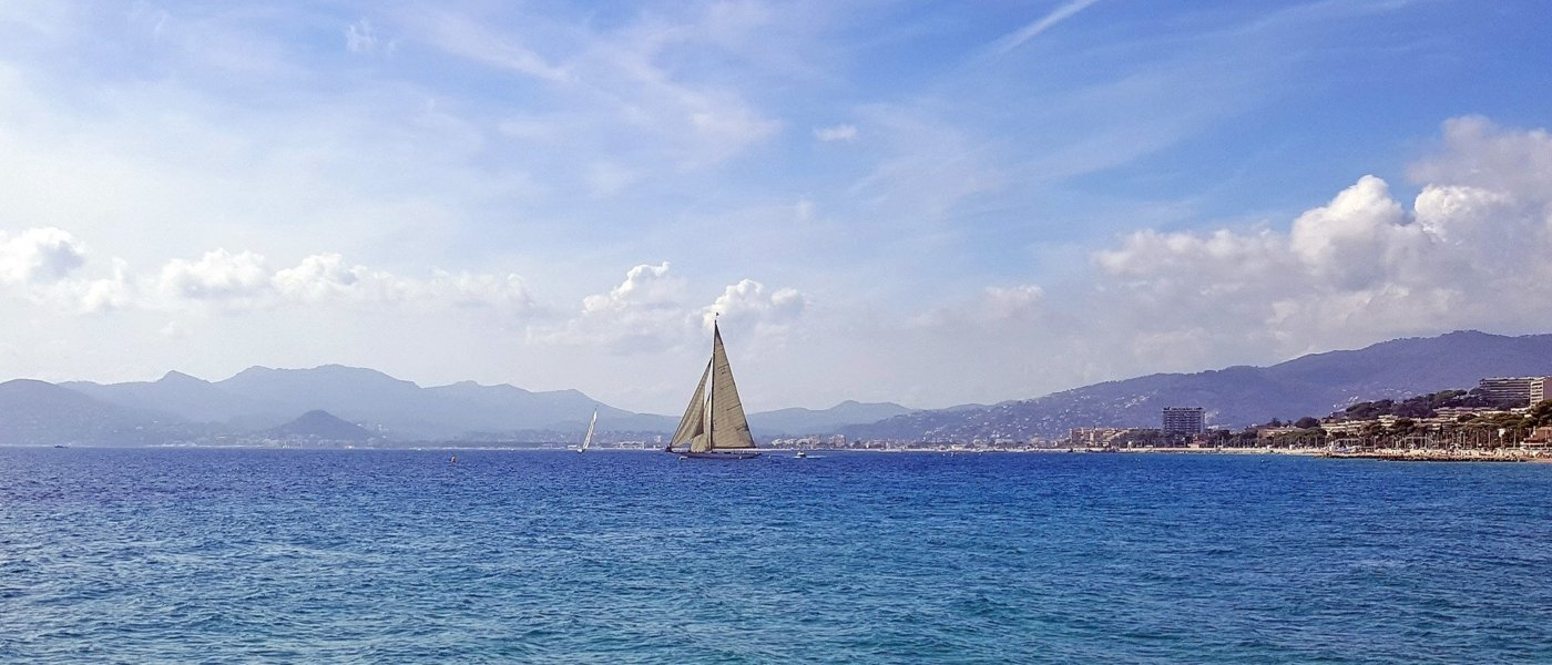 Sailing in the Bay of Cannes