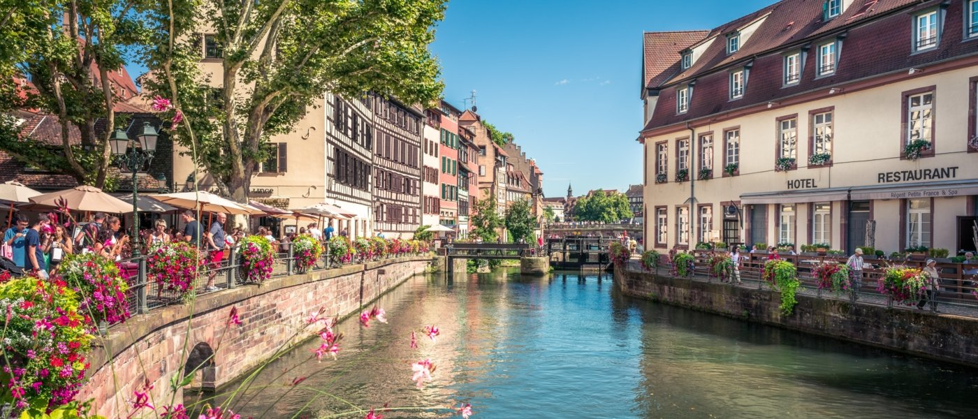 Canal in Strasbourg in France - Wine Paths