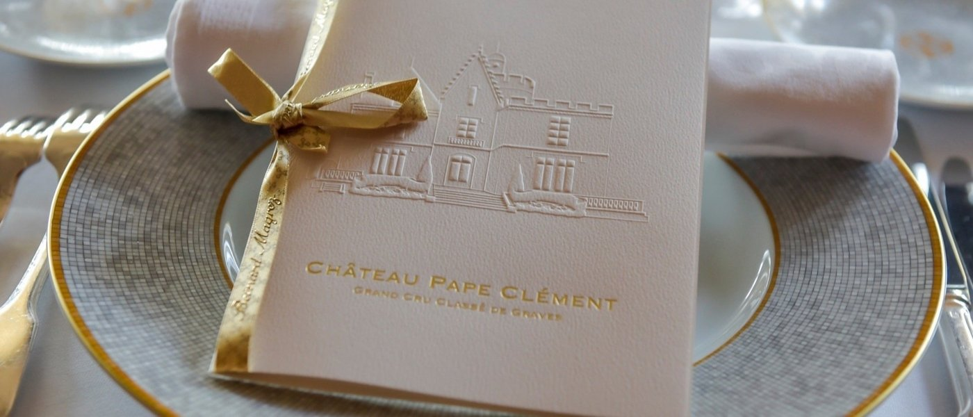 chateau pape clement dinner