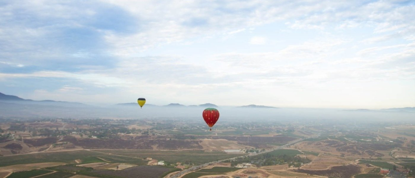 Hot Air Balloon Ride over the Vineyards