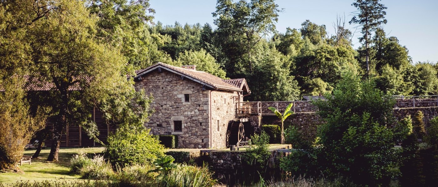 Moulin des Etangs is located in an old water mill