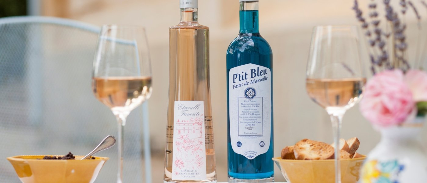 Pastis and rosé wine to taste with tapenade: Welcome in Provence