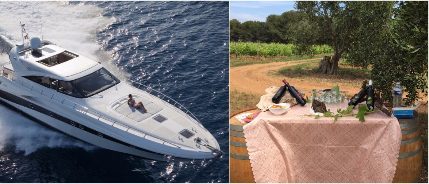 Luxury yacht and VIP wine tasting on the French Riviera