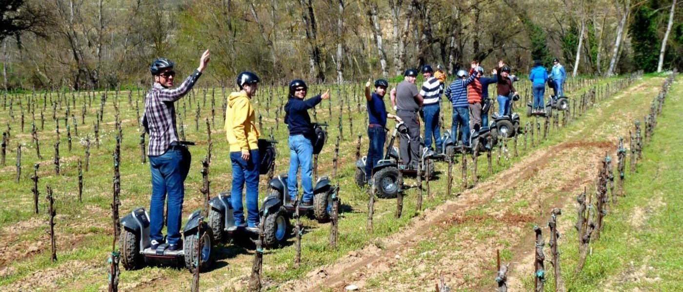 A SEGWAY TOUR THROUGH THE VINEYARDS