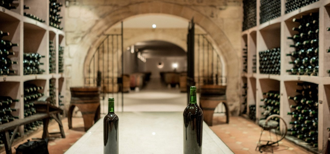 Special Wine cellar with bottles - Wine Paths