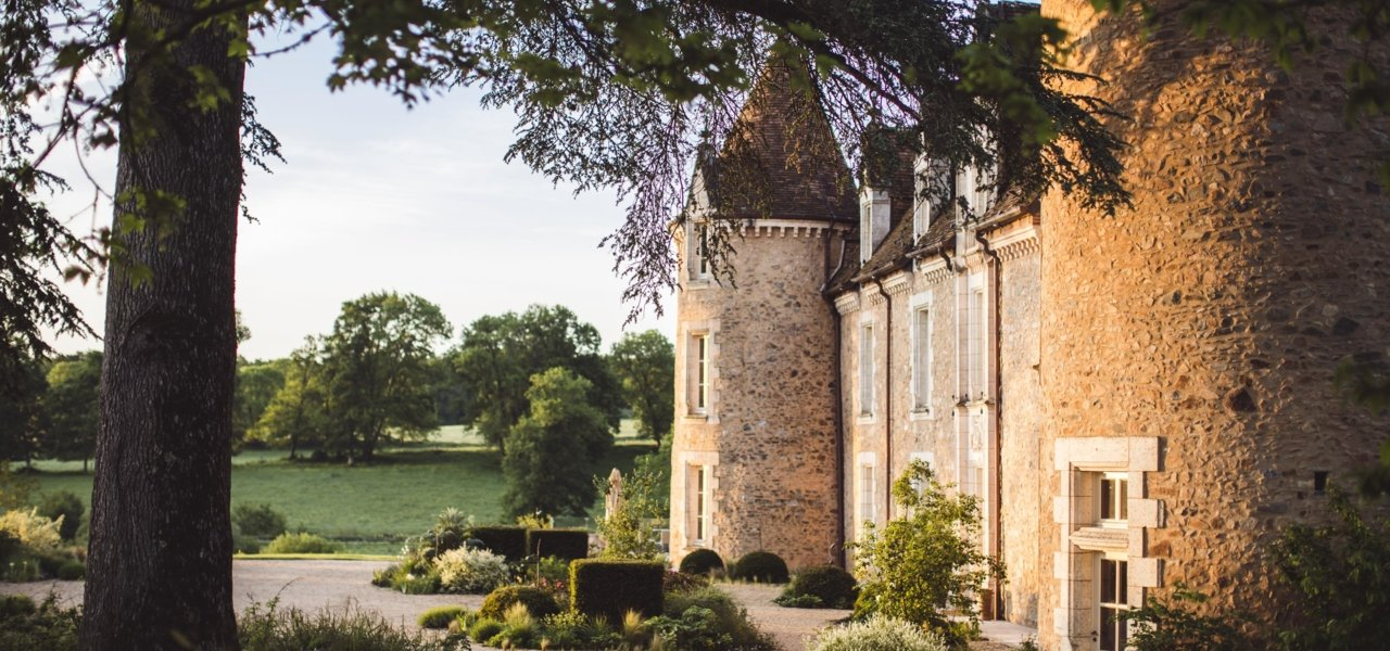 The castle of Domaine des Etangs