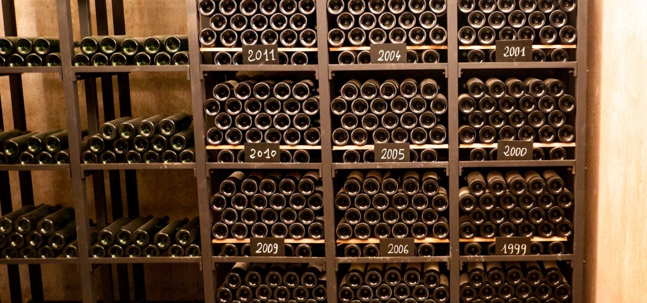 The cellar where a selection of bottles of du Tertre is kept since Eric Albada took over the property (1997)