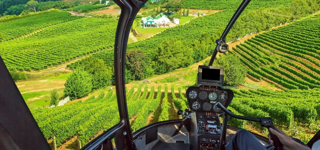 Exclusive Penedes helicopter wine tour