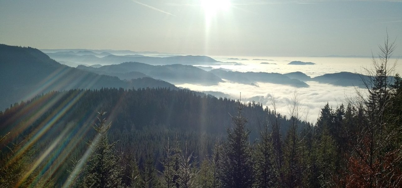 Breathtaking view from B500 on the Black Forest