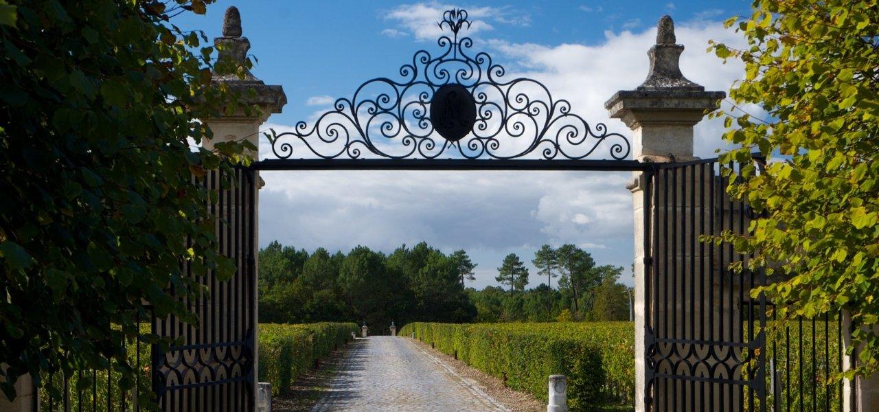 Main gate of chateau du Tertre.
