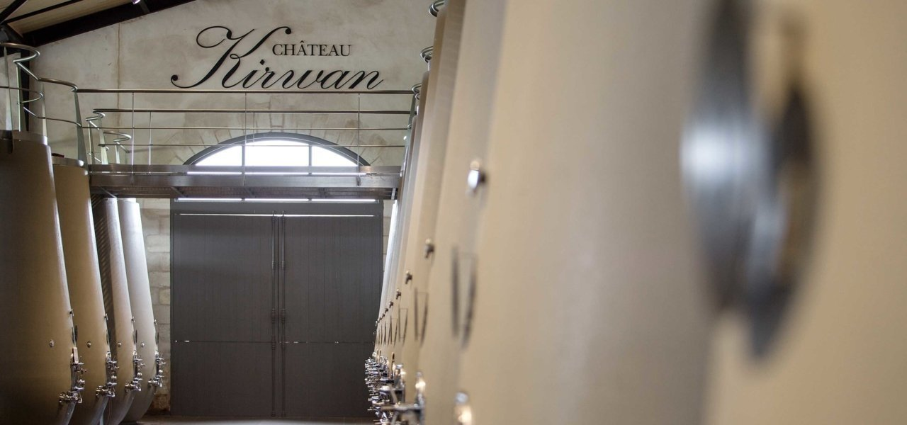 wine cellars at chateau kirwan