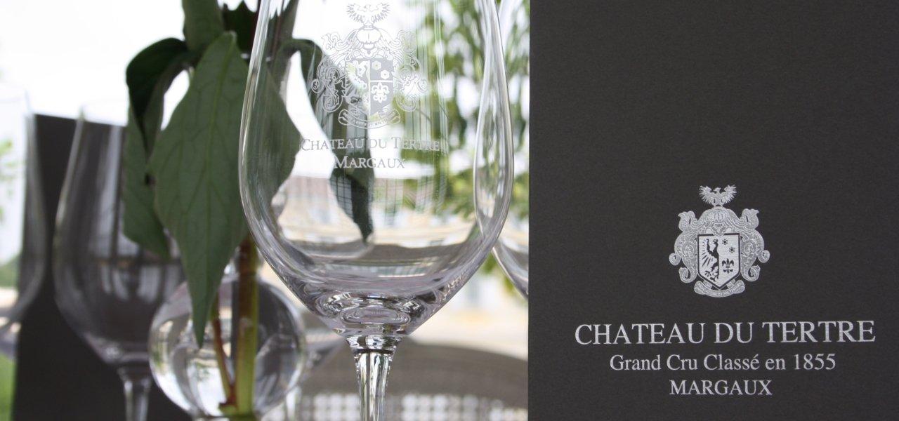 Chateau du Tertre - tasting glass.