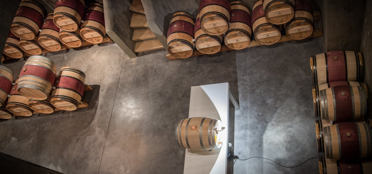 View from above on the barrel cellar.
