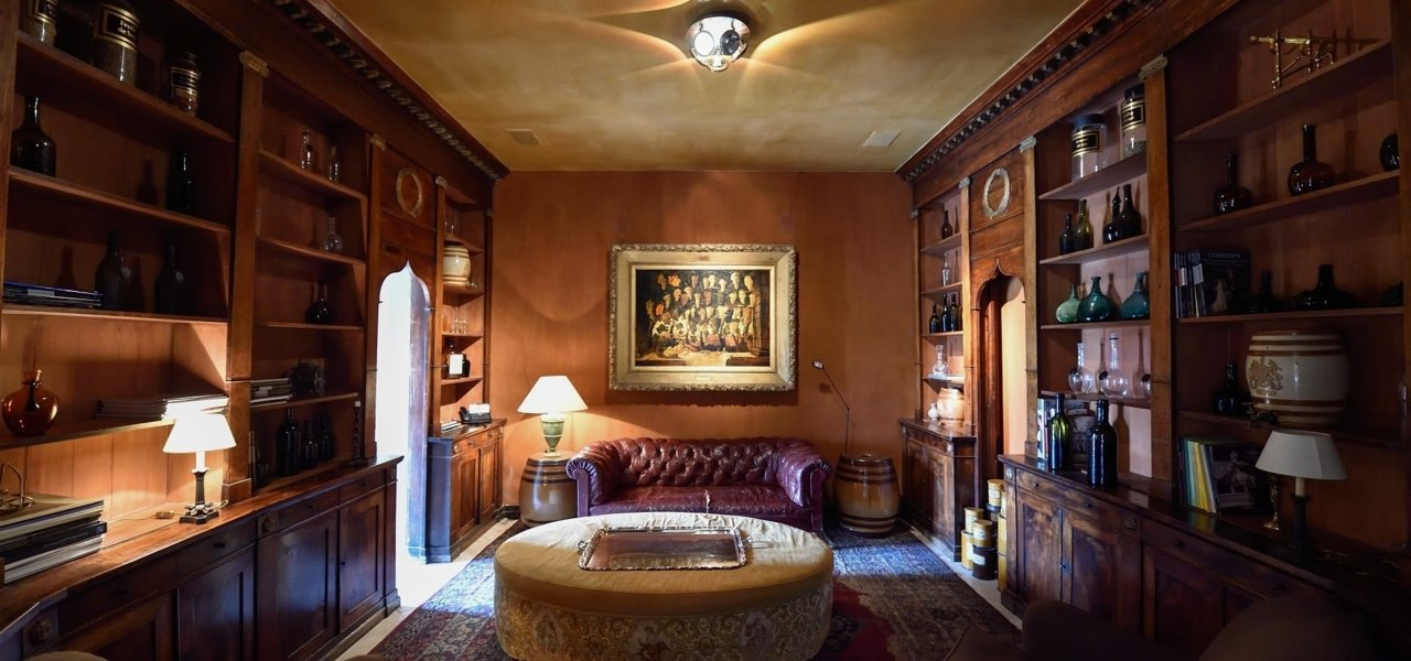 """""""La Pharmacie"""", situated near our tasting room. The furnitures comes from a Tuscan pharmacy."""