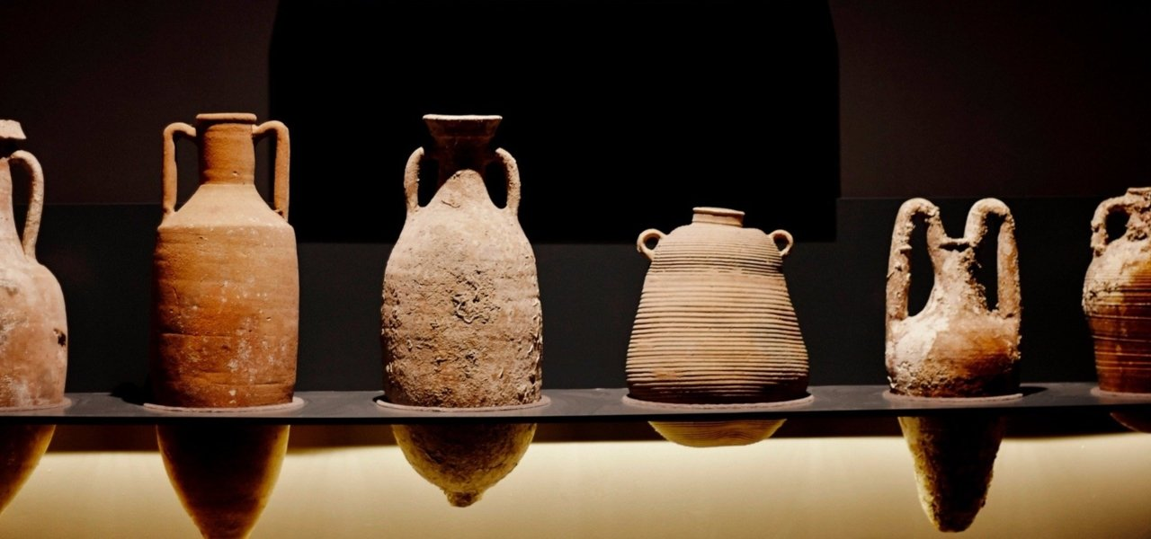 Amphoras dating back to Ancient Greece.
