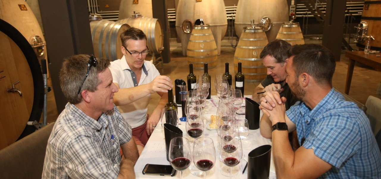 blending at Susana Balbo