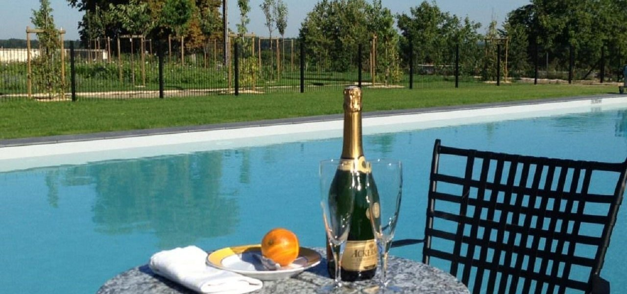 Champagne by the pool