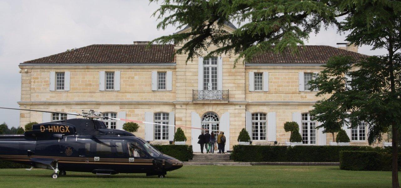 Chateau du Tertre's heliport.