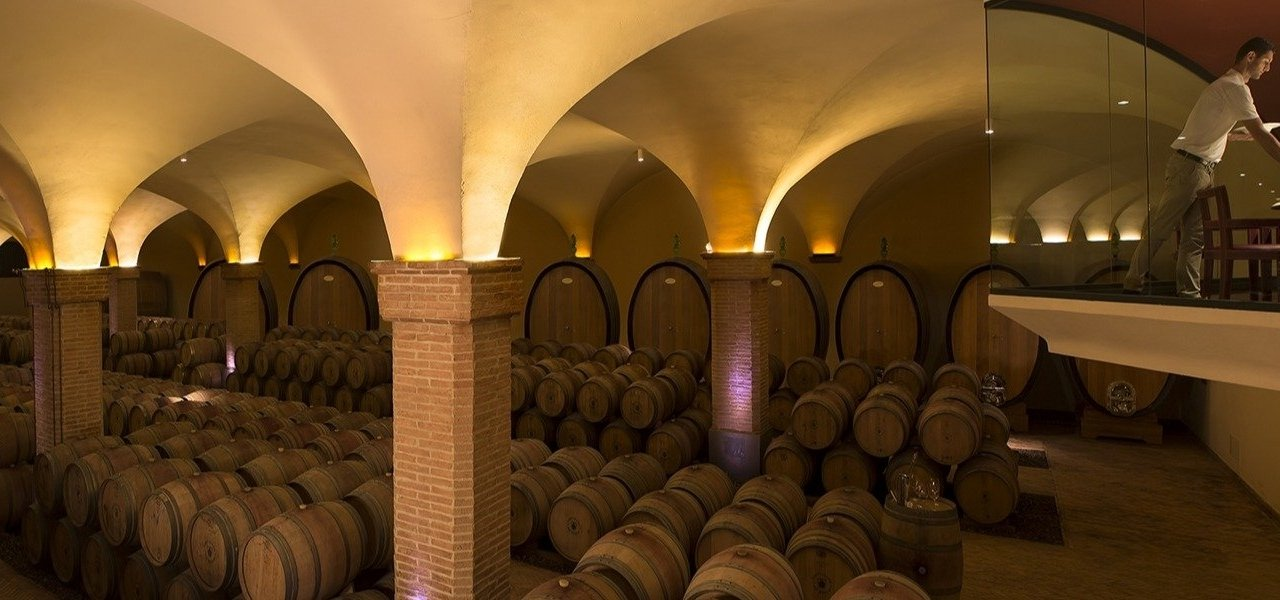 cellar visit at casteglion del bosco