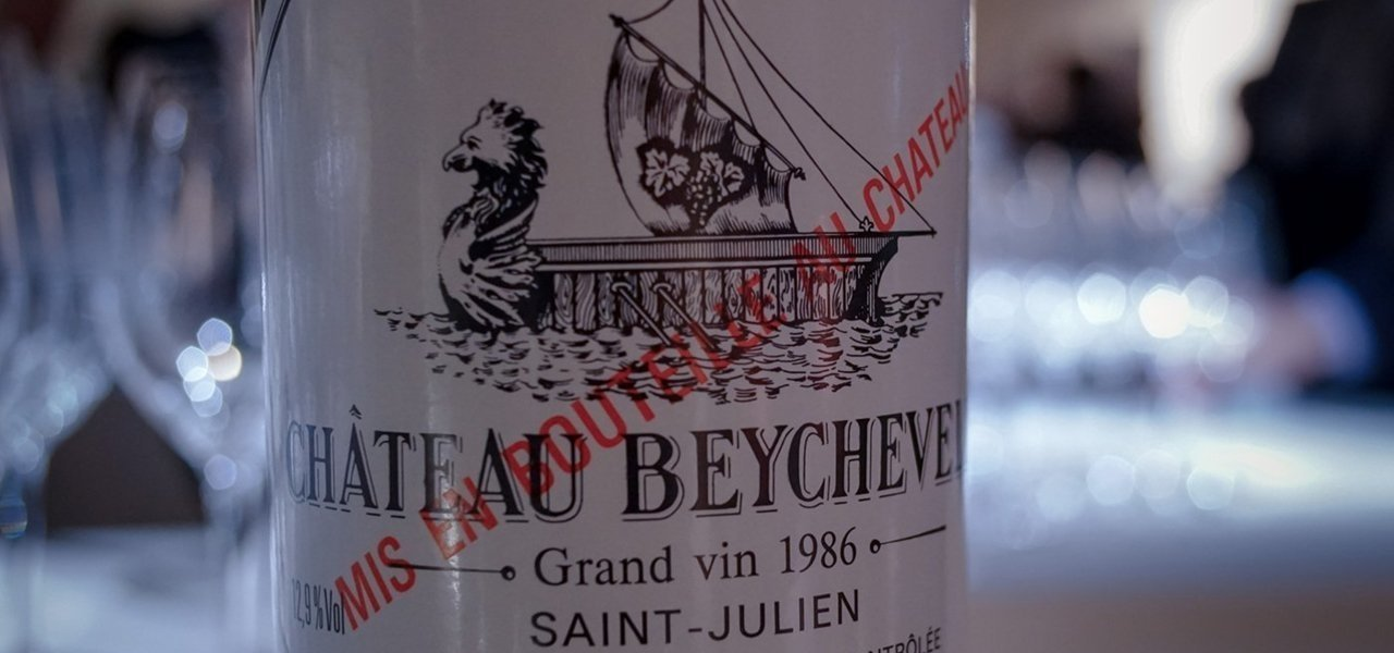 Wine bottle Beychevelle
