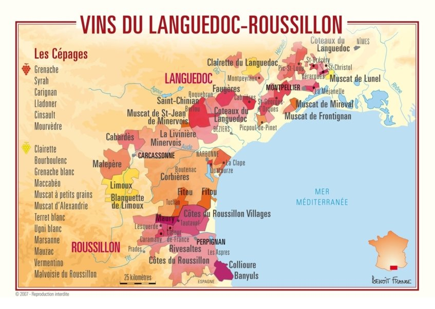 languedoc wine map - Wine Paths